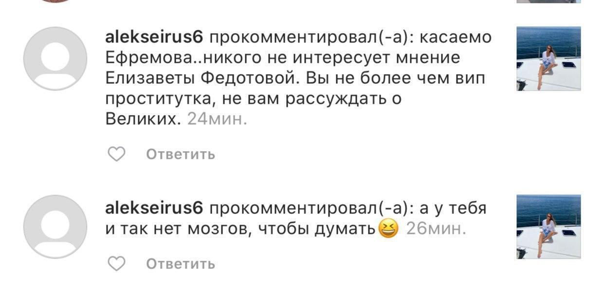 Девушку российского игрока НХЛ затравили после слов о Ефремове