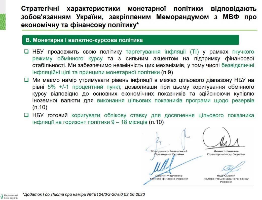 В НБУ напомнили Украине требования МВФ.