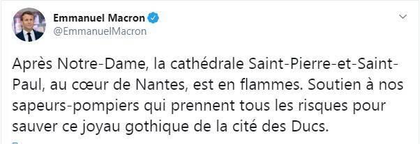 Президент Франции поддержал пожарных