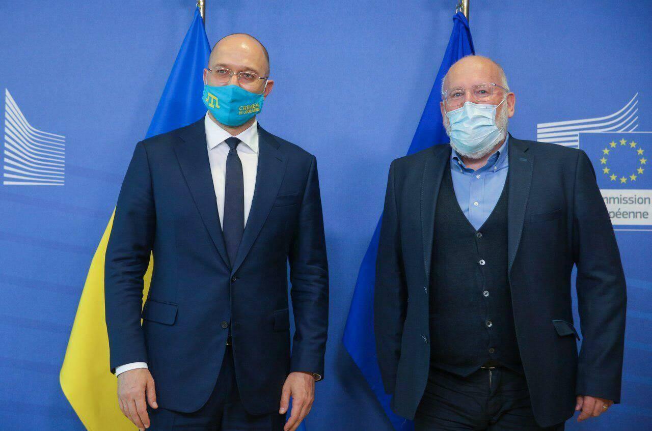 Денис Шмигаль та виконавчий віцепрезидент Європейської комісії Франс Тіммерманс