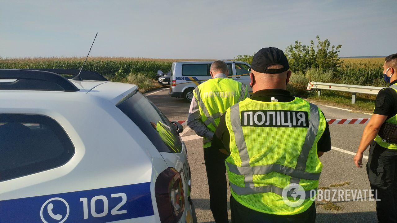 Поліція на місці злочину в Полтавській області