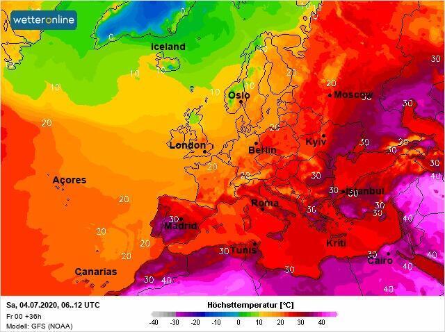 Сильная жара ожидается почти на всей территории Украины