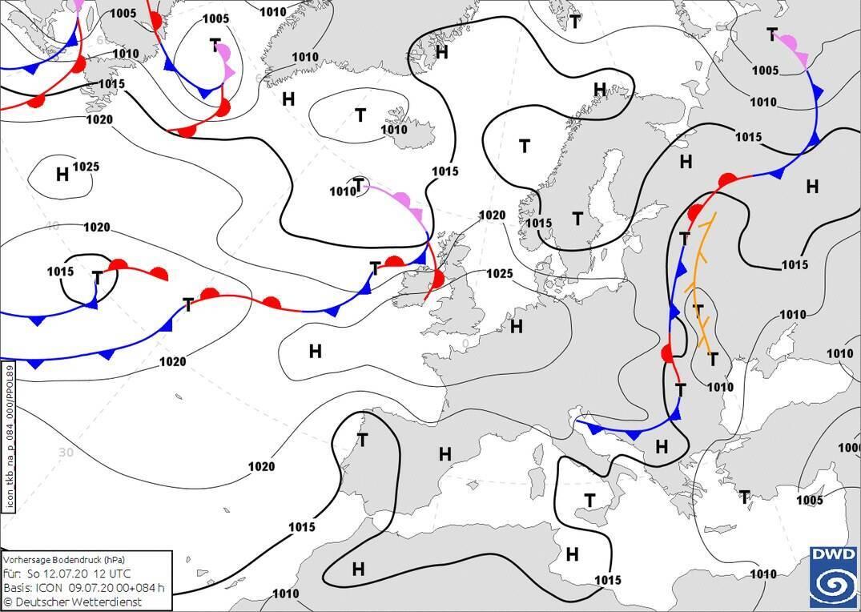 Атмосферные фронты из Европы принесут похолодание и дожди