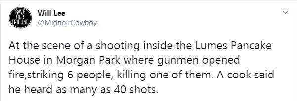 Кухар кафе почув сорок пострілів.