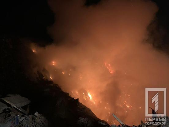 У Кривому Розі спалахнув вогонь на території сміттєвого полігону
