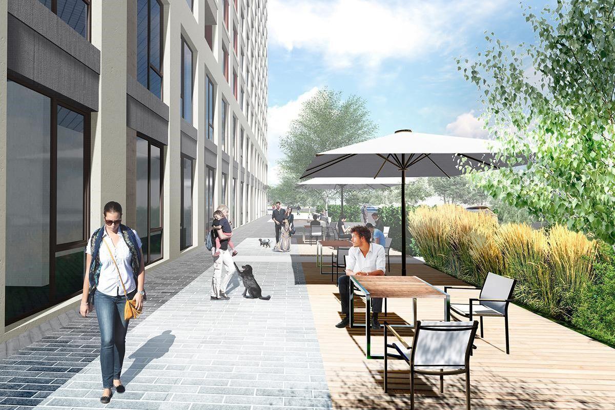 Рендер / План размещения летних площадок ресторанов от бюро ландшафтной архитектуры KOTSIUBA