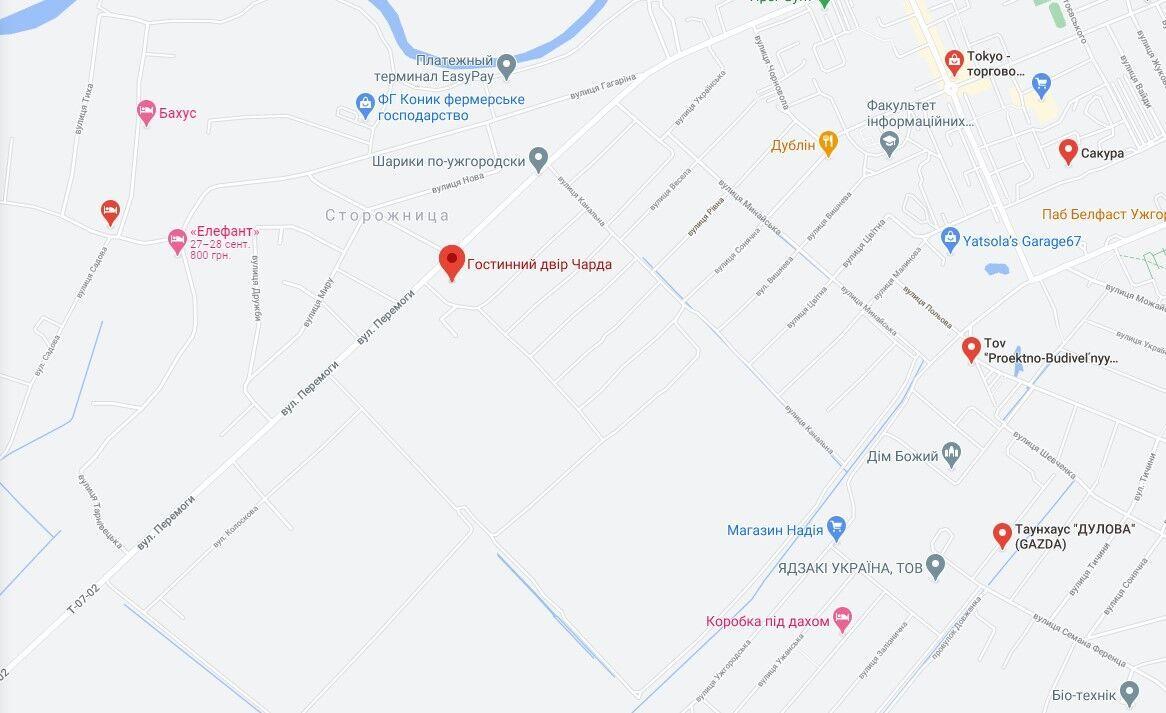 """Пожежа трапилася на території готельно-ресторанного комплексу """"Чарда""""."""