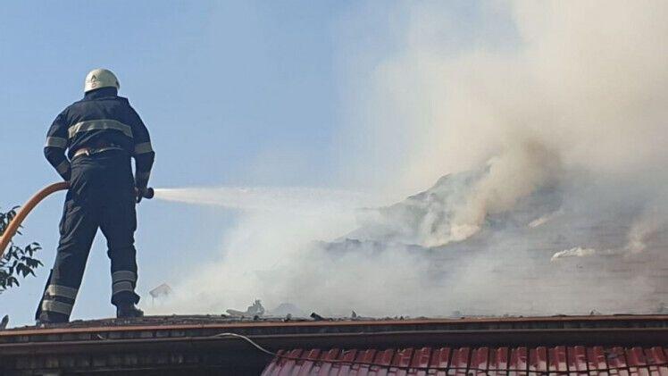 Пожежних залучали з Чопа і смт.Середнє.