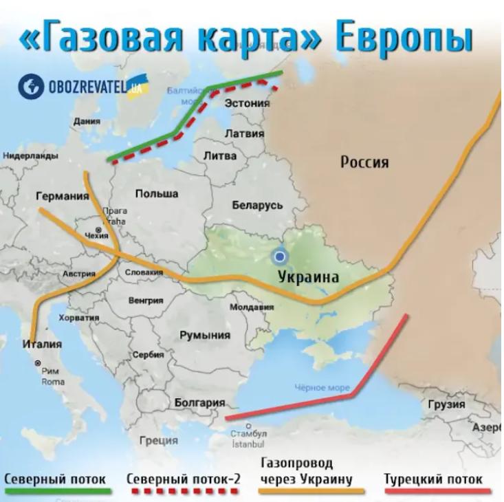 """Карта строительства """"Северного потока-2"""""""