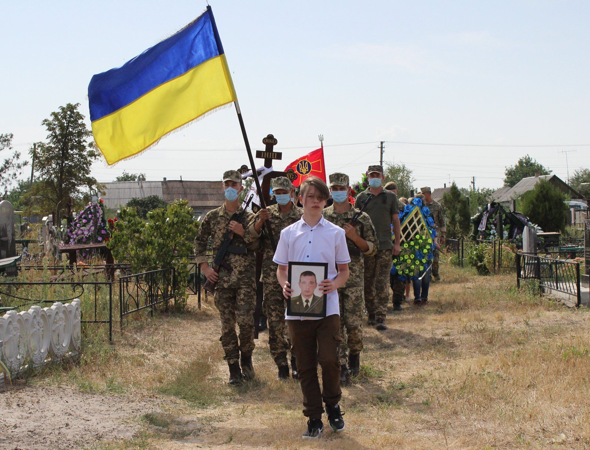 Син Віталія Грицишина Назар на похороні батька