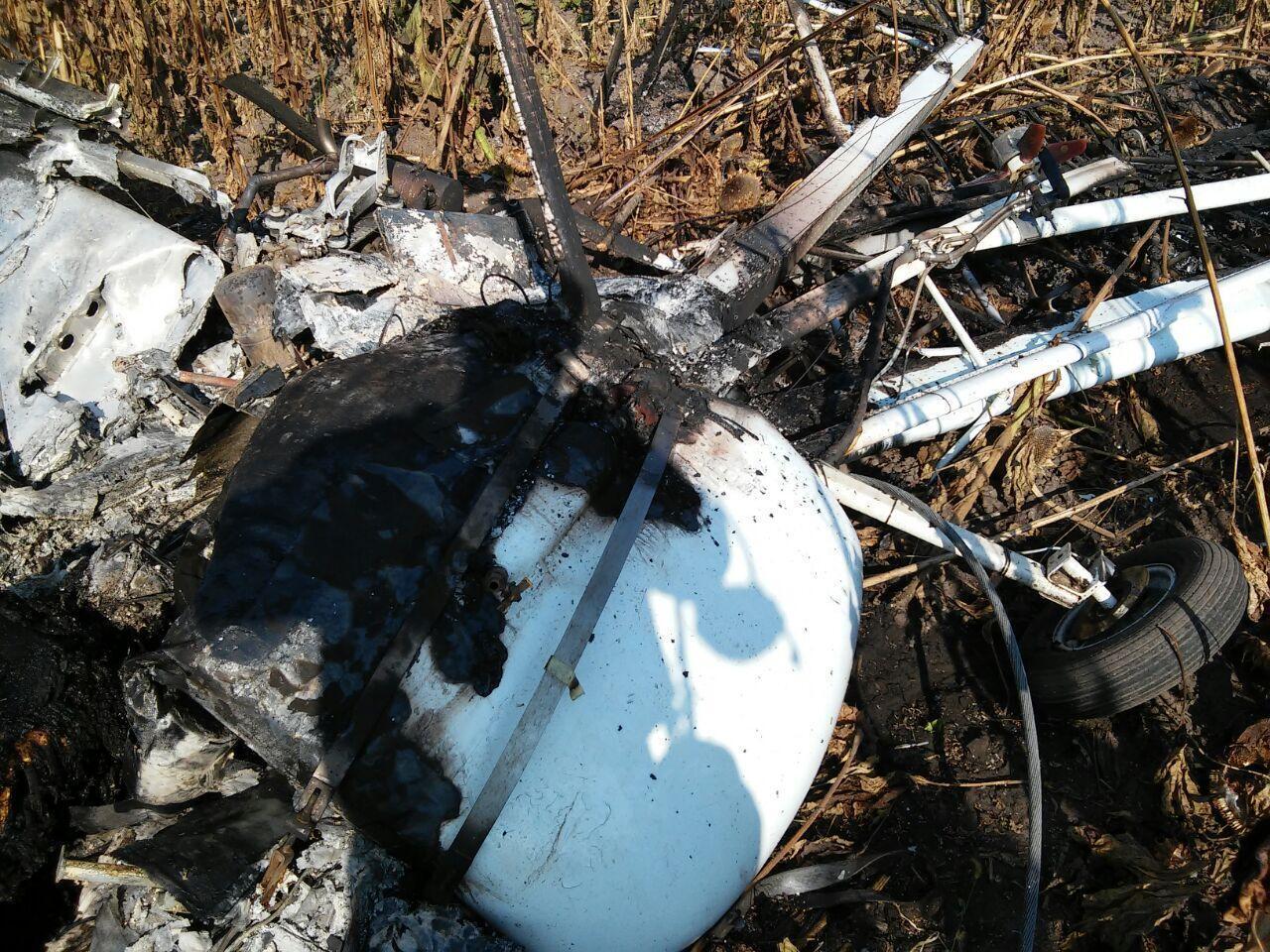 На Сумщині впав легкомоторний літак.