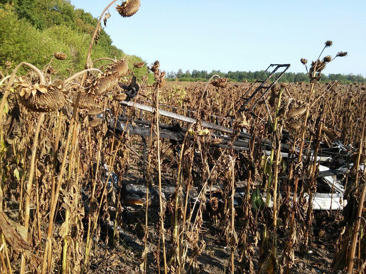 Пілот на Сумщині також загинув на соняшниковому полі.