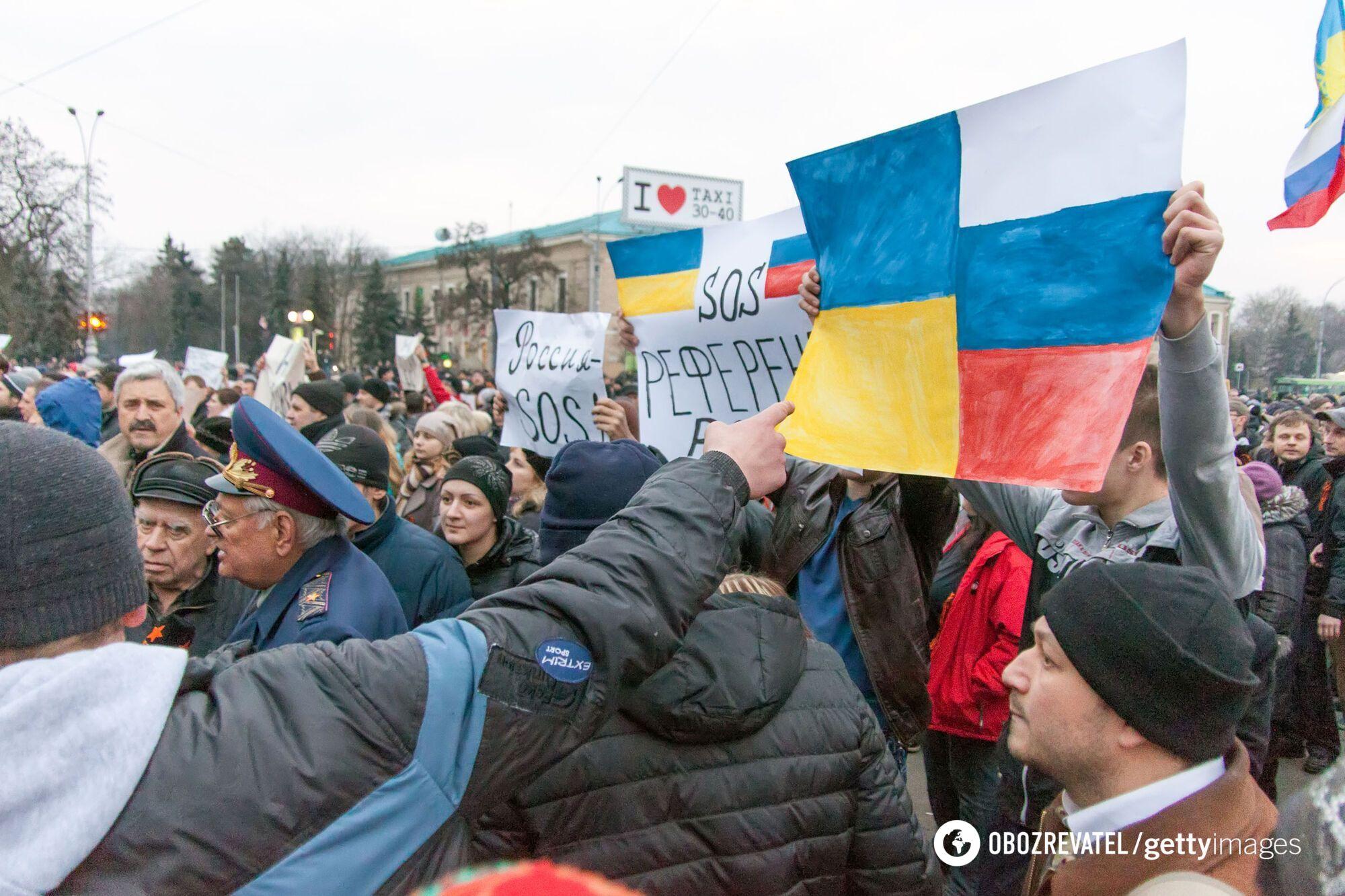 У березні 2014 року в Харкові проходили проросійські мітинги