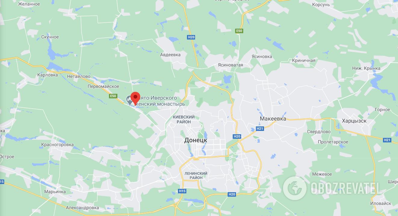 Піски знаходяться недалеко від Донецька.
