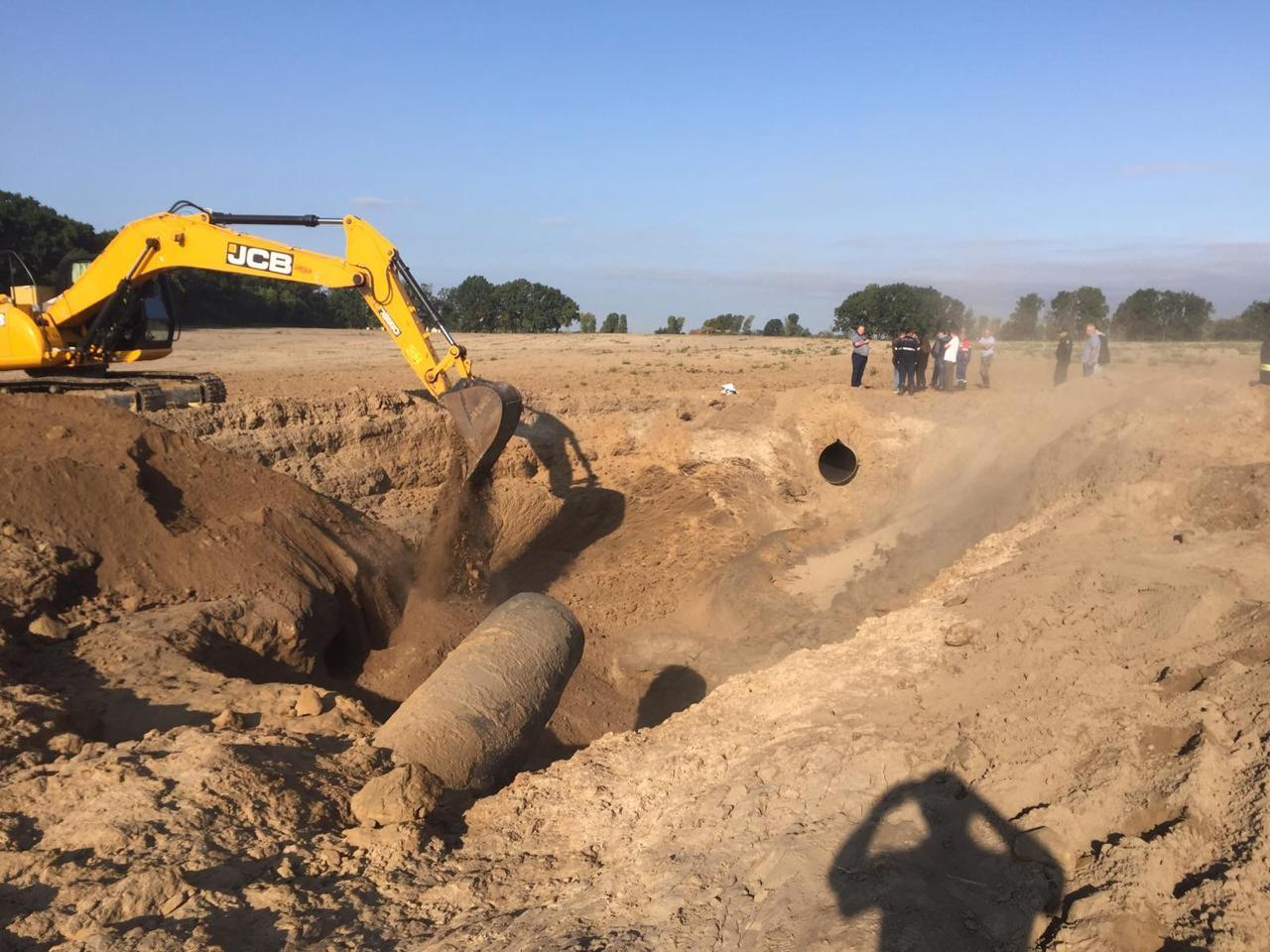 Последствия взрыва на газопроводе в районе Чабанов.