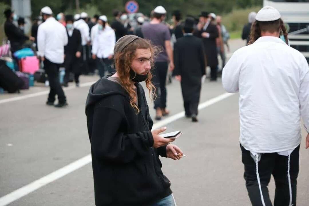 Хасиды-паломники на границе с Беларусью