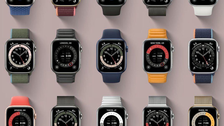 Часы представлены в разных цветах и с разными циферблатами.
