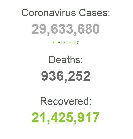 Коронавирусом заразились более 29 млн.