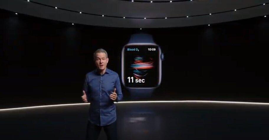 Презентация новых функций Apple Watch.