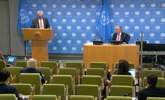 Пресс-конференция главы ООН.