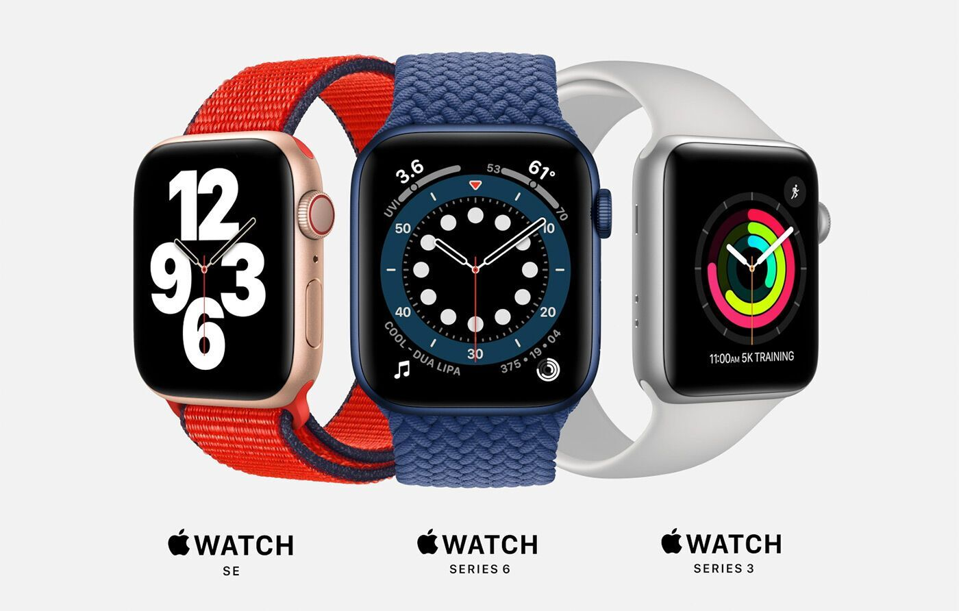 Apple Watch SE, Apple Watch Series 6, Apple Watch Series 3
