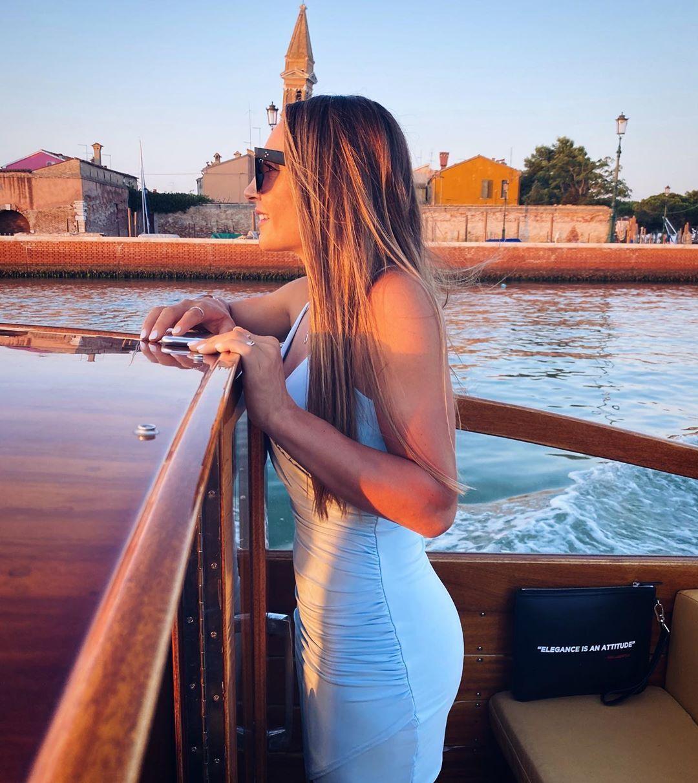 Доротея Вирер на яхте