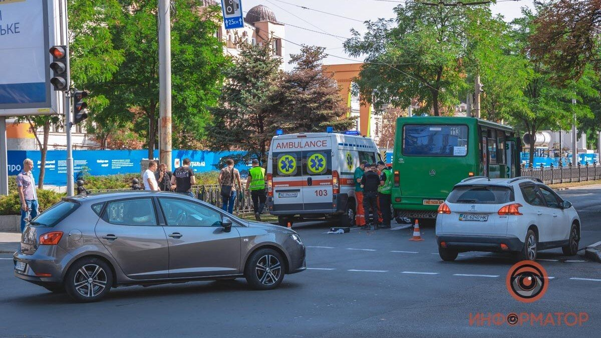 В Днепре автобус переехал женщину-пешехода.