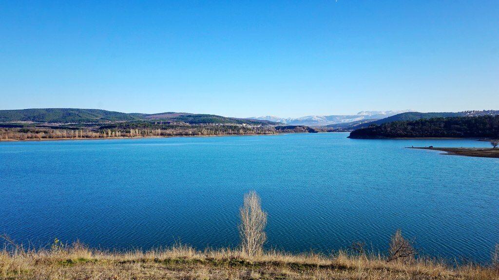 Так выглядело Симферопольское водохранилище до аннексии.