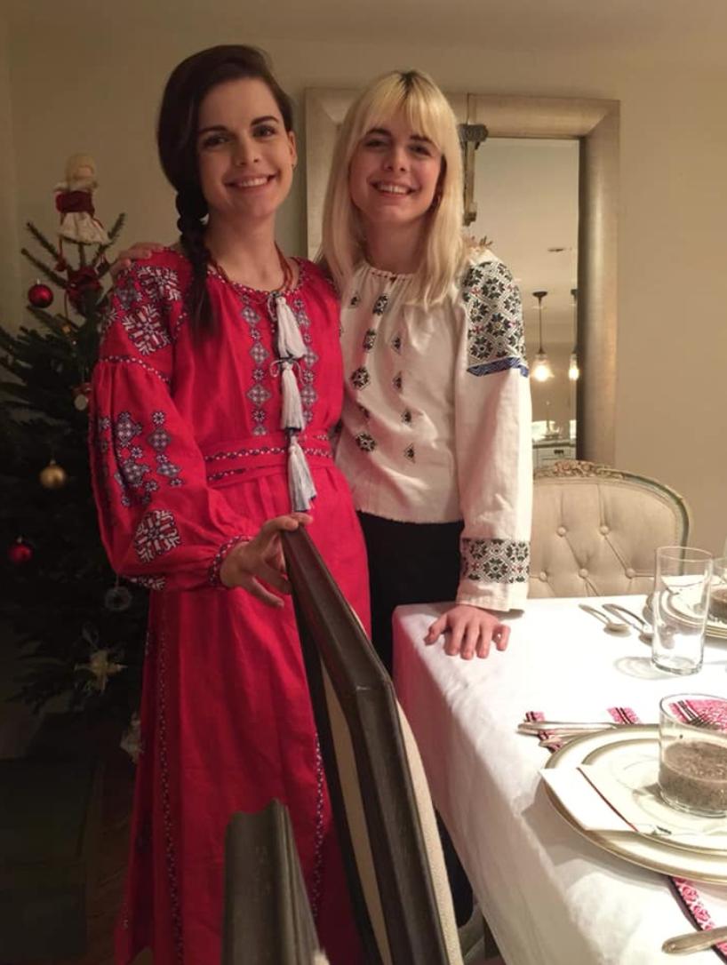 Нана і Соломія Гонгадзе перед Різдвом.