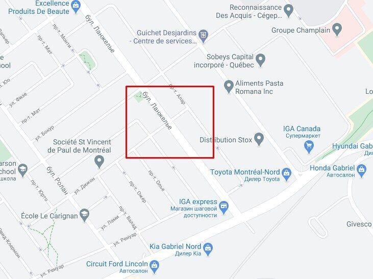 Инцидент произошел на пересечении бульвара Ланжелье и улицы Дижон.