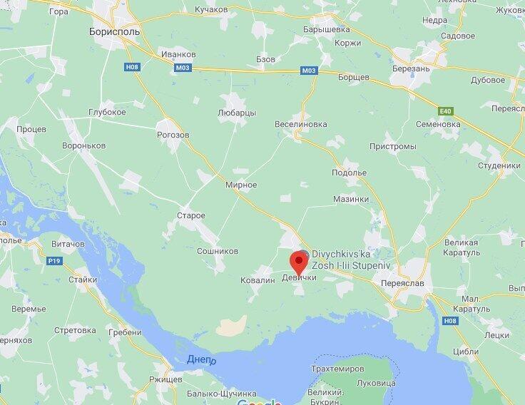 Полигон расположен в селе Девички.