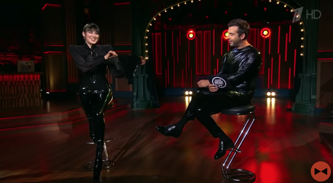 Maruv снялась в шоу Урганта на росТВ .
