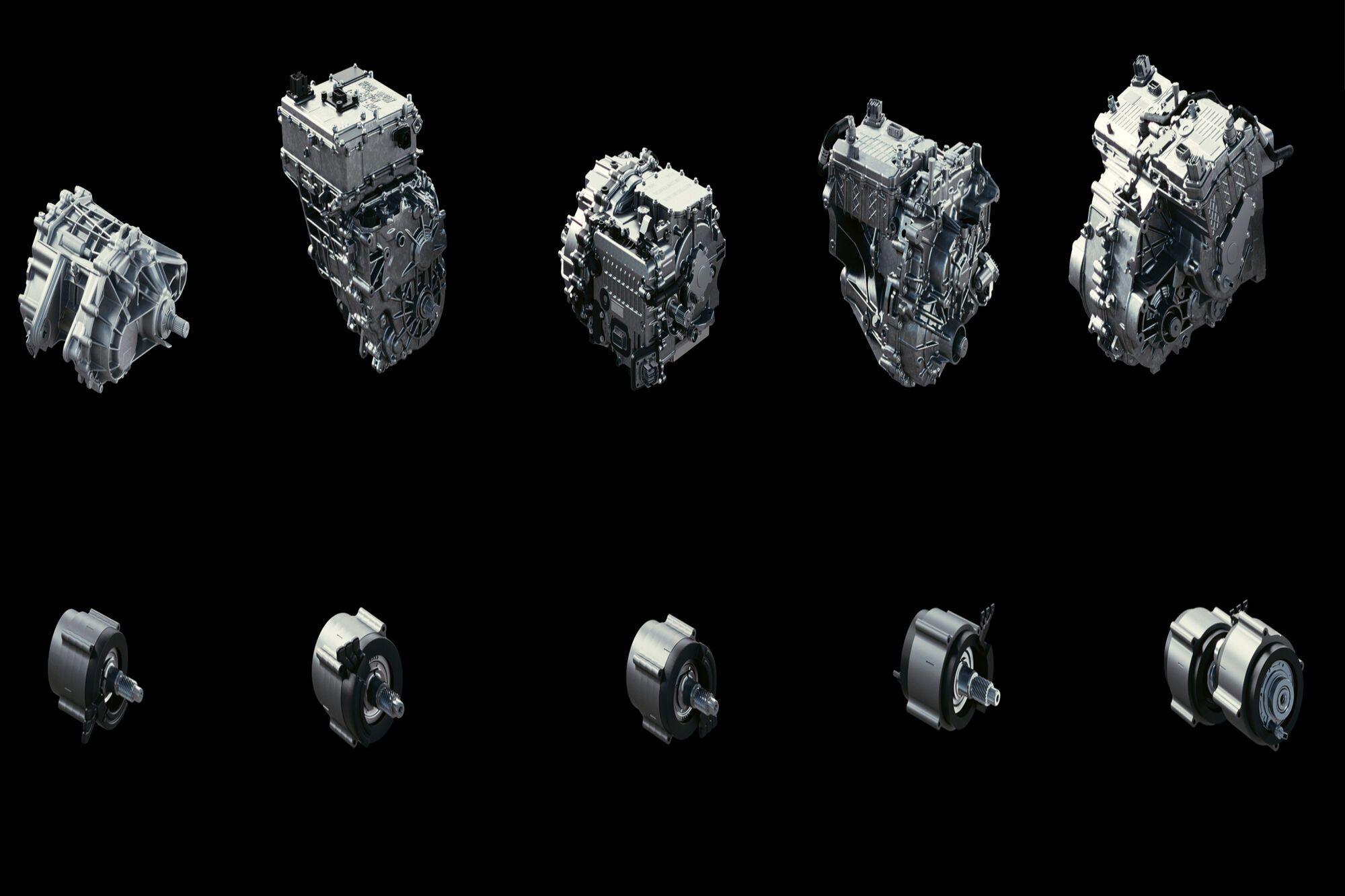 Семейство Ultium Drive представляет собой пять взаимозаменяемых модулей и три электромотора. Фото: