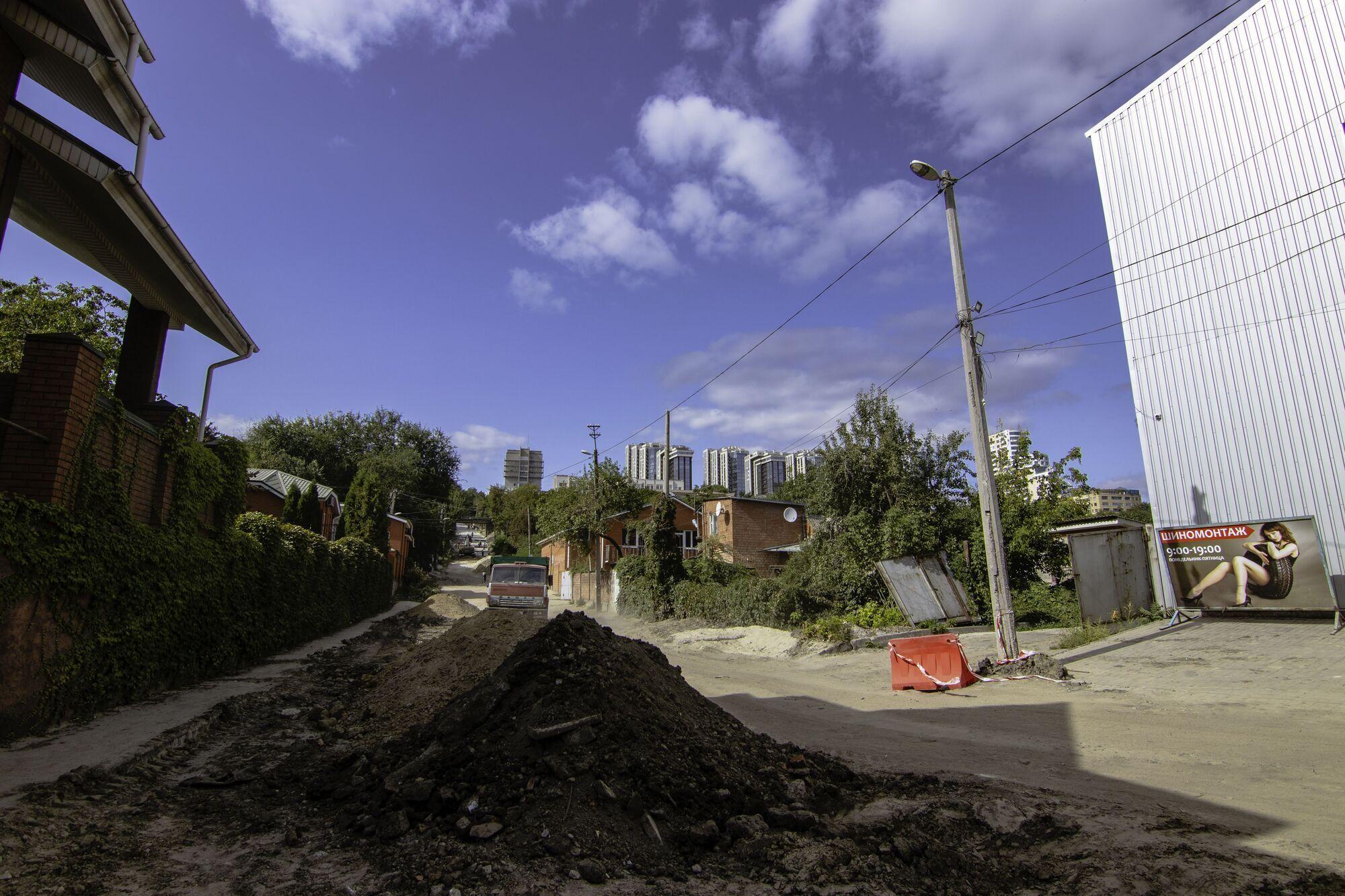 В Днепре продолжается капитальный ремонт Крестьянского спуска