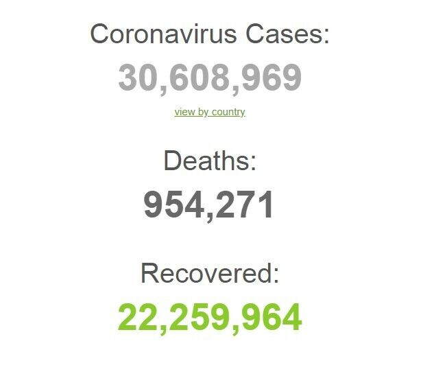 Заразилися понад 30,6 млн.