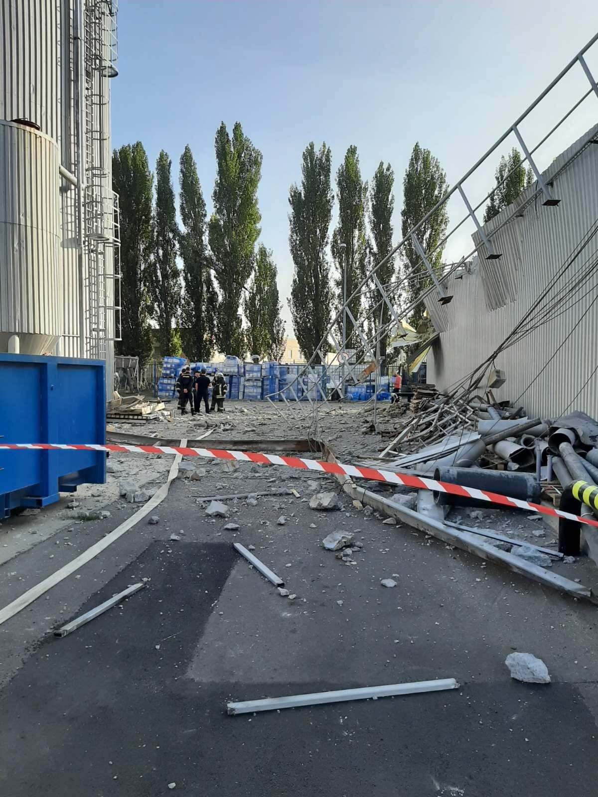 На заводе Carlsberg Ukraine прогремел взрыв.