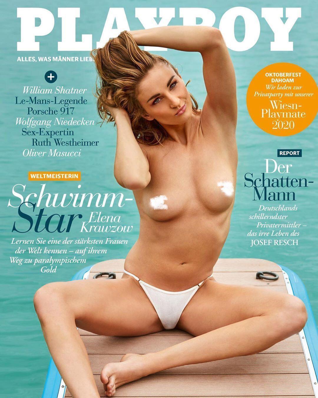 Елена Кравцов на обложке Playboy