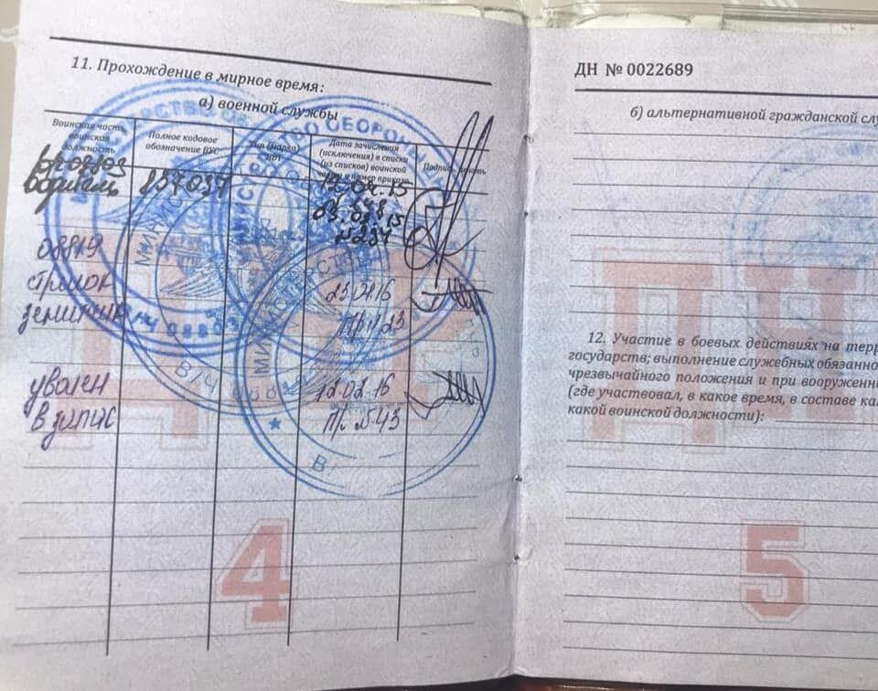 Копії сторінок документів Кошмана потрапили до розпорядження українських спецслужб.