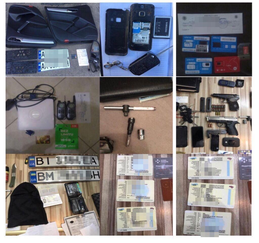 В гаражах и местах разукомплектования похищенного транспорта проведено 17 обысков