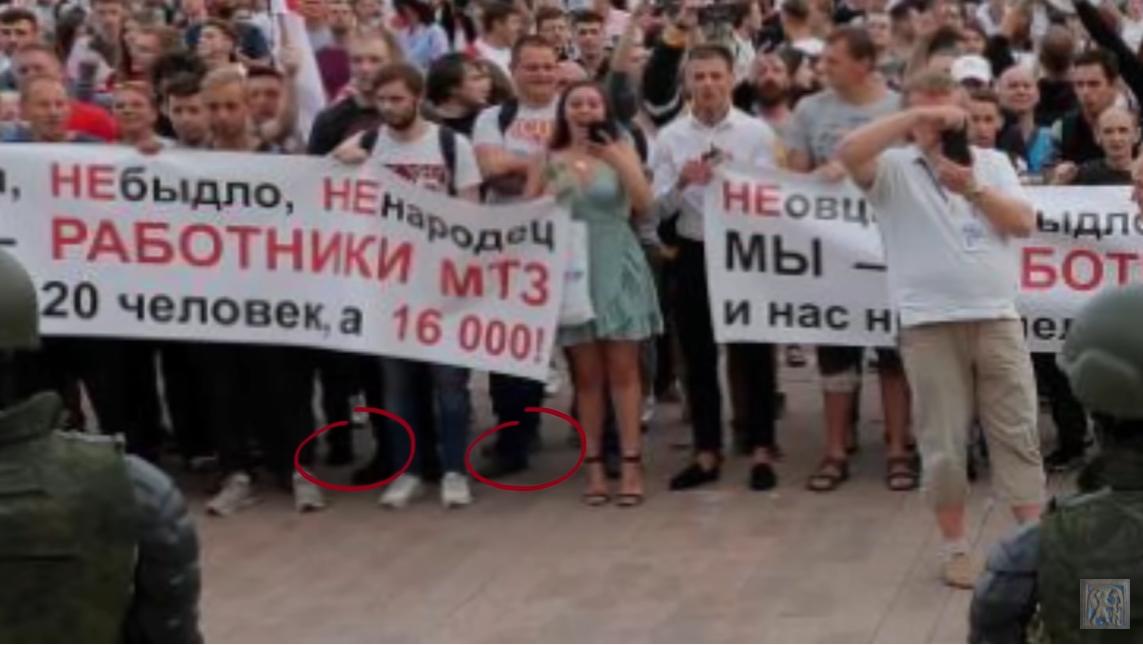 Режиссер считает, что на фото с белорусских протестов искусственно добавляли людей. скриншот с видео