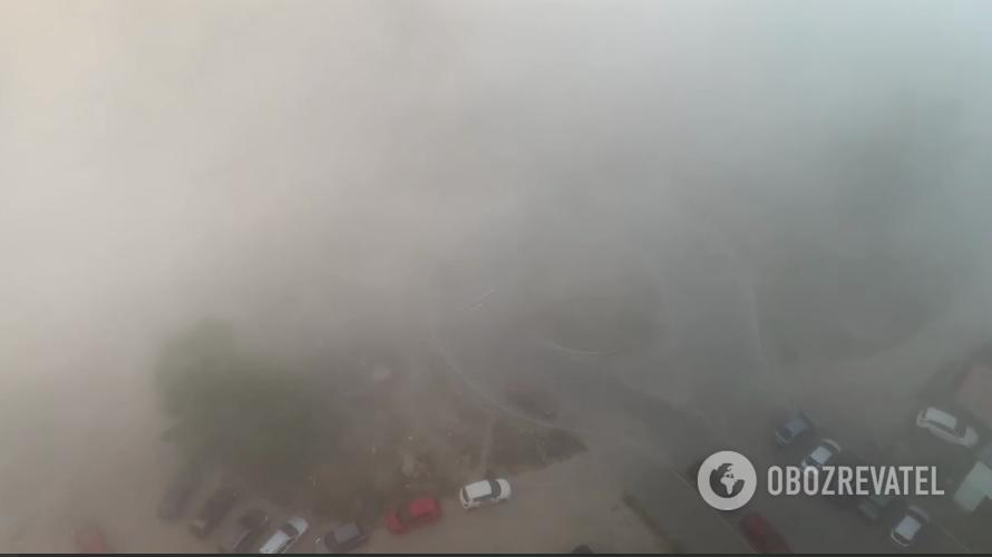 Туман в Киеве.