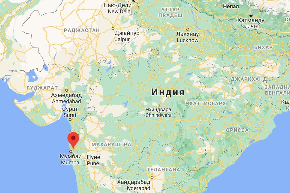 В Индии разрушился жилой дом.
