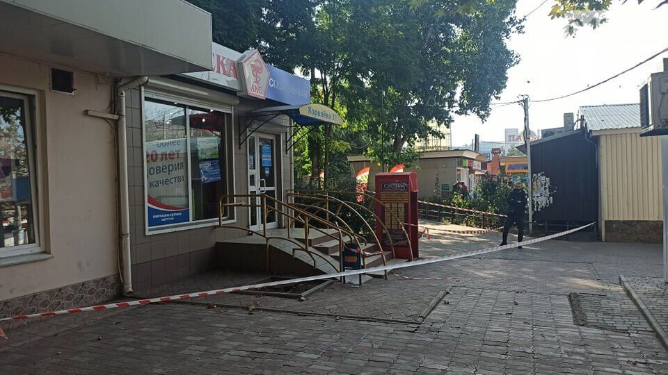 Полиция оцепила место преступления