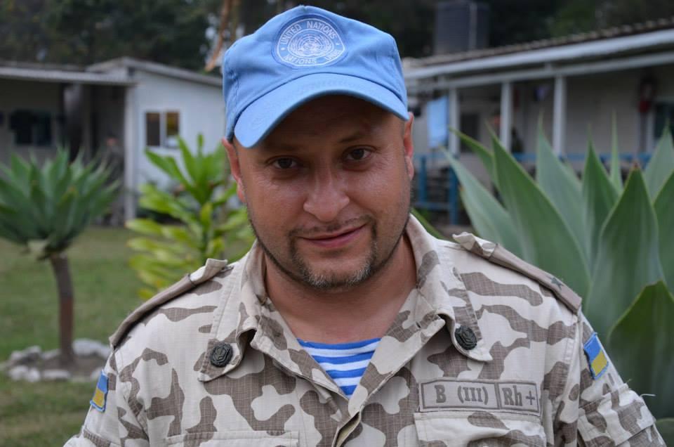 Владислав Волошин під час місії в Конго.