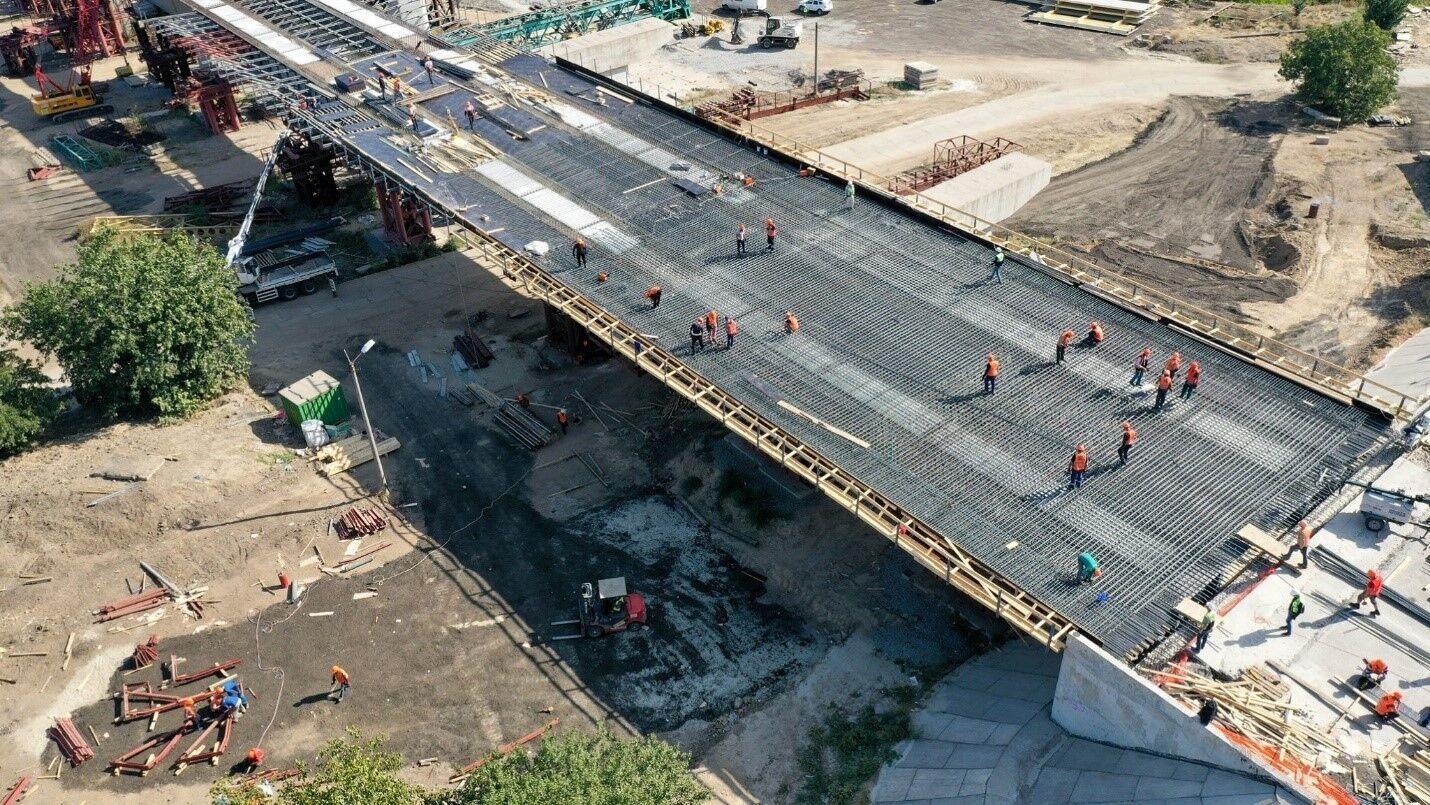 Строительство мостов через Днепр в Запорожье