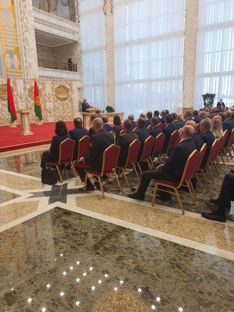 Інавгурація Лукашенка пройшла без оголошеня.