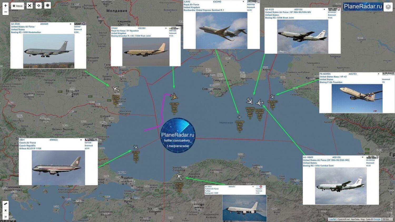 Літаки, які взяли участь у навчаннях.