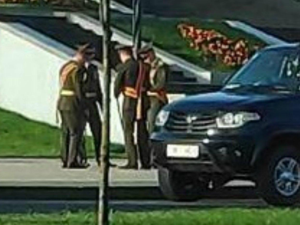 Військові на проспекті Незалежності в Мінську.