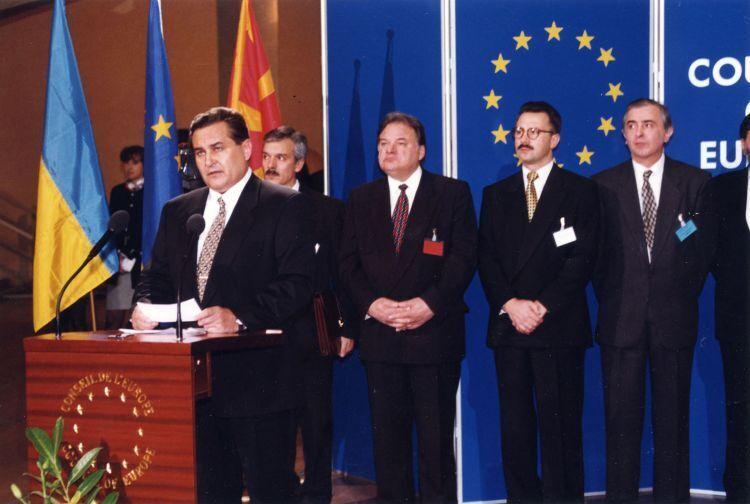 9 листопада 1995 року відбулася урочиста церемонія вступу України до Ради Європи