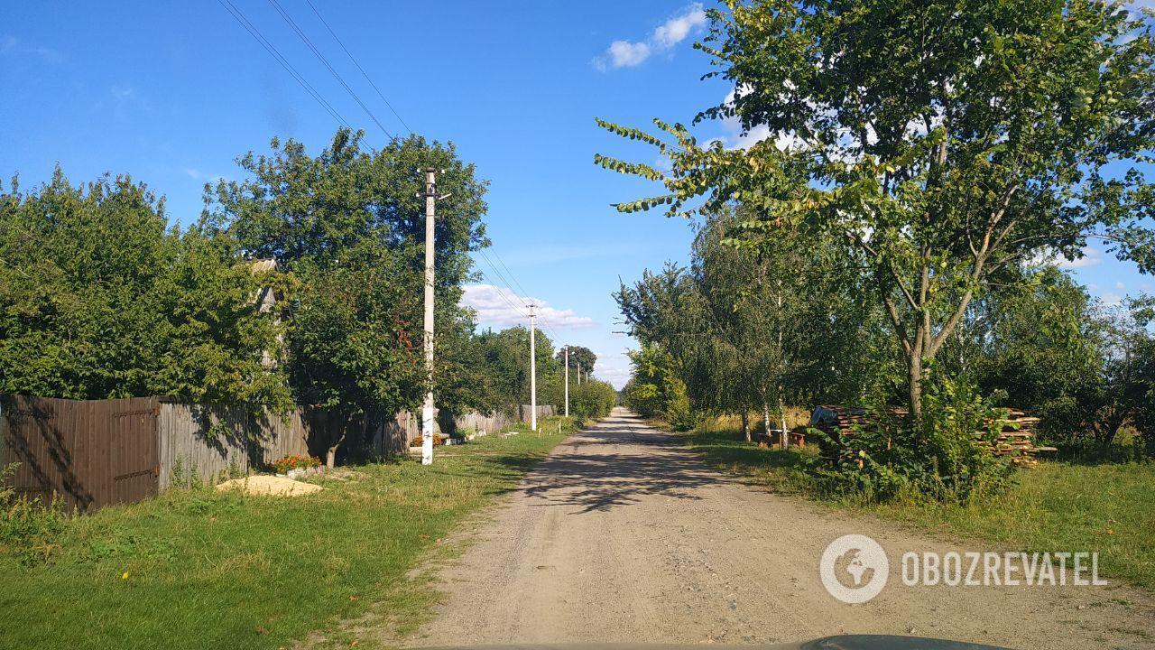 Вулиця на хуторі Вишня, де жив злочинець